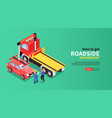tow truck horizontal banner vector image