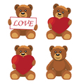 Toy bears vector image