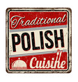 traditional polish cuisine vintage rusty metal vector image vector image