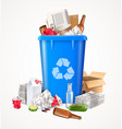 trash and waste concept vector image vector image