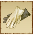 Two workwear gloves of white and gray colors vector image vector image