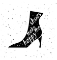 Typography Shoes Design with Quote vector image
