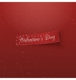 Valentines Day Hearts Pattern Tag with Text vector image vector image