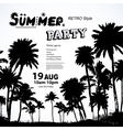 Vintage summer banners with palm trees vector image