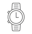 watch thin line icon clock and time starp sign vector image vector image