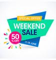 weekend super sale special offer banner vector image vector image