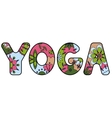 yoga love painted colorful vector image vector image