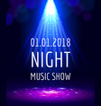 abstract light party poster vector image