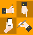 hand collections set 1 vector image