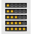 set of black rating stars vector image