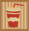abstract fast food vector image