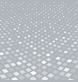 abstract halftone white square pattern vector image vector image