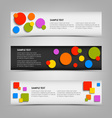 Abstract horizontal banners with colored rounds vector image vector image