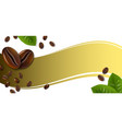 banner with coffee beans vector image