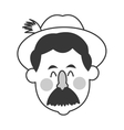 bavarian man icon vector image vector image