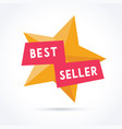 best seller with star vector image vector image