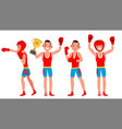 boxer training boxing sport athlete in vector image vector image