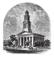 christ church vintage vector image vector image
