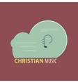 Christian music icon vector image