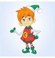 christmas elf cartoon character santa helper vector image vector image