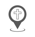 church map pointer icon simple vector image vector image