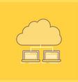 cloud network server internet data flat line vector image