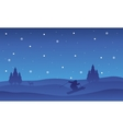 Collection Christmas beautiful landscape at night vector image vector image