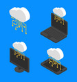 concept cloud network technology isometric vector image