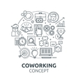 Coworking Round Composition vector image vector image