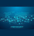 cyber security concept or information network vector image