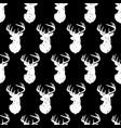 deer head seamless pattern vintage style vector image