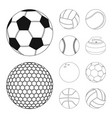 design of sport and ball symbol collection vector image