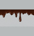 dripping chocolate delicious gourmet chocolate vector image