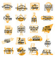 electrician electricity service lettering icons vector image