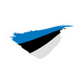 estonia flag vector image vector image