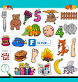 f is for words educational task for children vector image vector image
