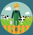 Farmer design vector image vector image