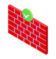 firewall password protection icon isometric style vector image vector image