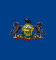 flag usa state pennsylvania vector image vector image