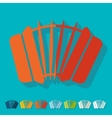Flat design accordion vector image vector image