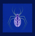 flat shading style icon halloween spider vector image vector image