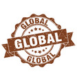 global stamp sign seal vector image vector image