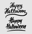 halloween hand written typography vector image