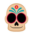 happy colored mexican skull vector image