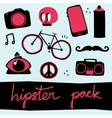 Hipster objects set vector image vector image