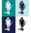 Hockey Players Mascots Silhouettes vector image vector image