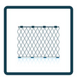 icon of fishing net on gray background round vector image vector image