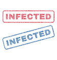 infected textile stamps vector image vector image