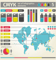 Infographic CMYK vector image vector image