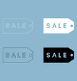 label sale the black and white color icon vector image vector image
